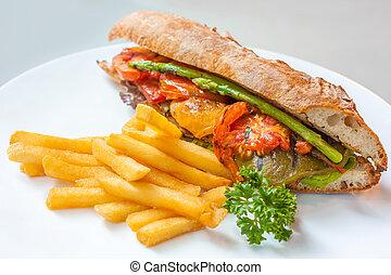 Vegetarian Sandwich for Lunch- Healthy Food