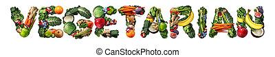 Vegetarian vegetarianism and vegan concept or veganism...