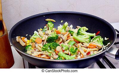 vegetarian wok