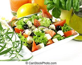 Vegetarianism - Greek salad for vegetarian