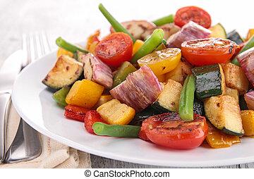 vegetariano, comida