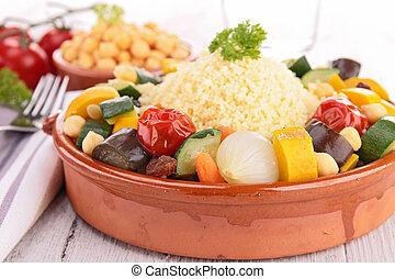 vegetariano, couscous