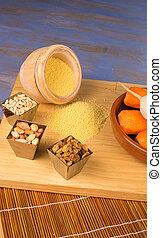 vegetariano, couscous, ingredienti