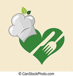 vegetariano, menu, alimento saudável