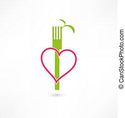 vegetariano, sinal