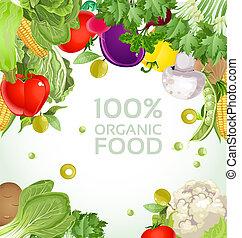 vegetariano, vegetal, bandera