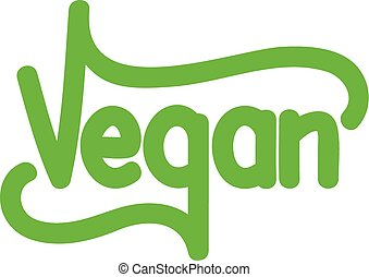 vegetariano, verde, text.