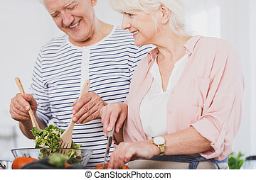 Vegetarians couple have a good time