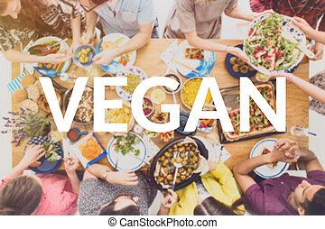 Vegan dinner concept