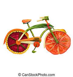 Veggie bike. - Healthy food concept of an urban fixed gear...