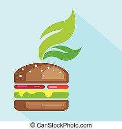 Veggie Burger Art
