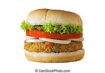 Veggie Burger Isolated - A cheese-free vegetarian burger ...
