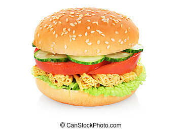 Veggie burger isolated