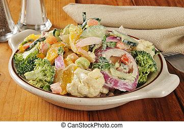 Veggie Caesar Salad