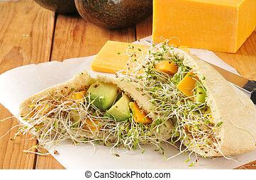 Veggie Pita Sandwich