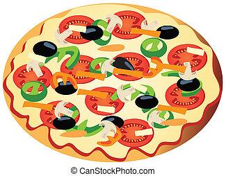 veggie, pizza