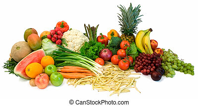 Veggies and Fruits - This is a close-up of vegetables and...