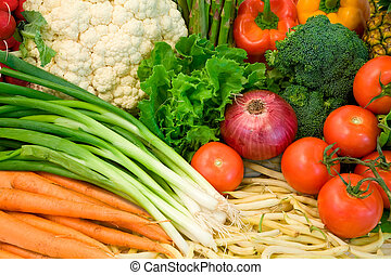 This is a colorful close-up of vegetables.