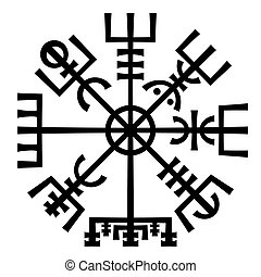 Vegvisir. The Magic Compass of Vikings. Runic Talisman. -...