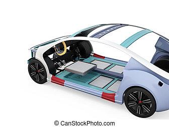 vehículo eléctrico, cuerpo, marco