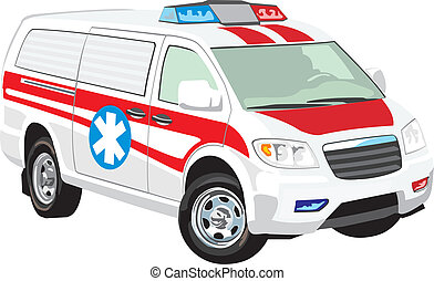 vehículo, médico
