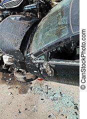 vehicle broken during road accident