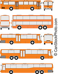 Vehicle Bus, vector illustration