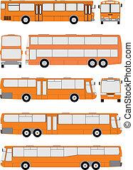 Vehicle Bus, vector illustration