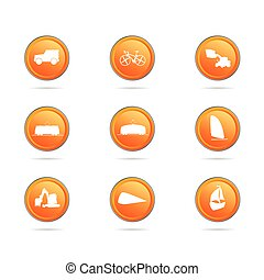 vehicle button color vector illustration