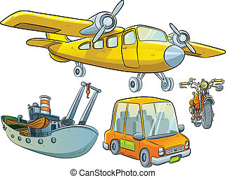 Vehicle Collection - cartoon illustration of classic vehicle...