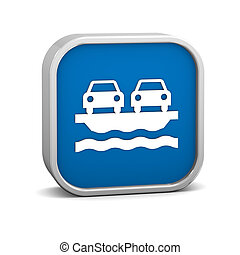 Vehicle Ferry sign