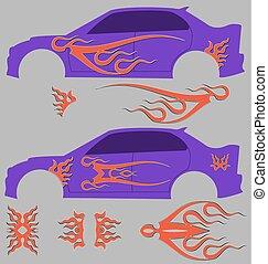 Vehicle Graphics, Stripe Vinyl Read