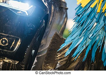 Vehicle in a Car Wash