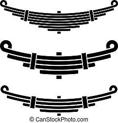 vehicle leaf spring black symbols - illustration for the web