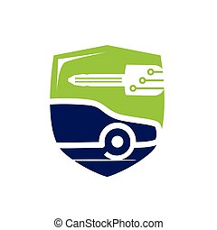 vehicle locksmith symbol - vehicle locksmith with a shield, ...