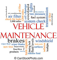 Vehicle Maintenance Word Cloud Concept