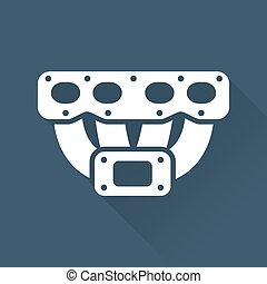 Vehicle part turbo manifold icon