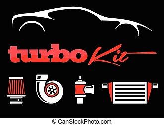 Vehicle performance mods turbo Kit - Vehicle turbo kit...