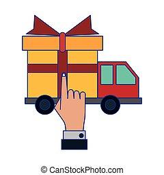vehicle present icon vector ilustration