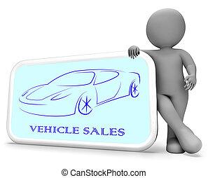 Vehicle Sales Represents Passenger Car 3d Rendering