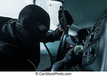 Vehicle Thief Concept Photo