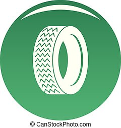 Vehicle tire icon vector green