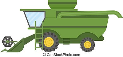 Vehicle tractor farm vector illustration isolated on white...