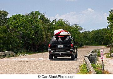Vehicle with Kayaks