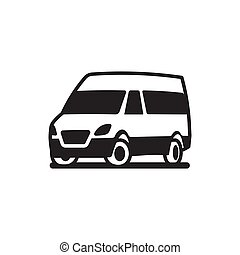 Vehicles Car Bus Truck Vector Icon