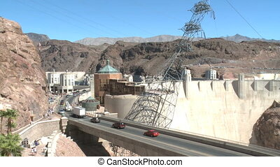 Vehicles cross the Hoover Dam (3 of 4) - Vehicles cross the...