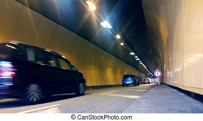 Vehicles In The Tunnel Of Monaco