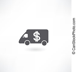 Vehicles transporting money icon