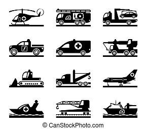 veicoli, emergenza, incidente