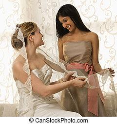 veil., 新娘, 藏品, 女儐相